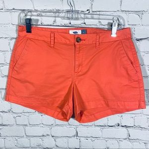 Old Navy Mid Rise Everyday Shorts Coral Size 4